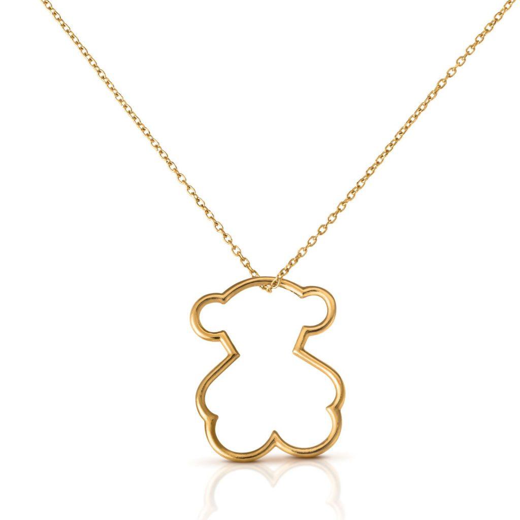 Joyas Tous - Colgante de la silueta del oso tous en oro